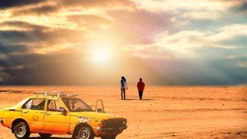 Auto poušť cestování autem