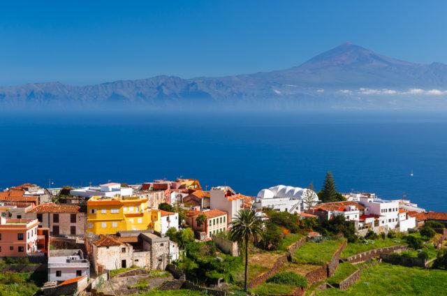 Kam v zimě za teplem, Město Agulo, Kanárské ostrovy