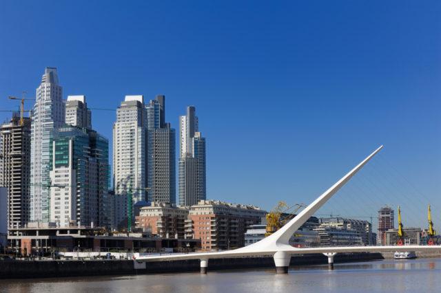 Kam v zimě za teplem, Puerto Madero, Buenos Aires, Argentina