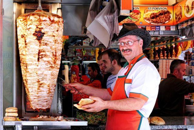 Prodavač v Istanbulu