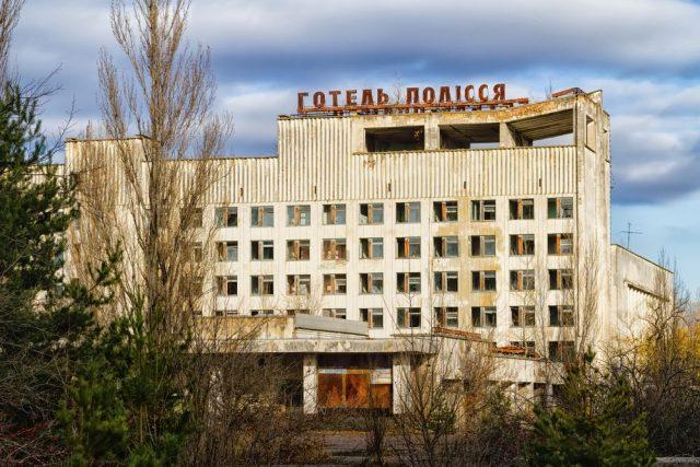Hotel Polissya.opuštěné hotely, Ukrajina