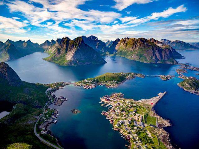 nejkrásnější hory světa, Fjord Reine