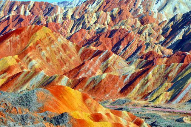 nejkrásnější hory světa, Zhangye Danxia
