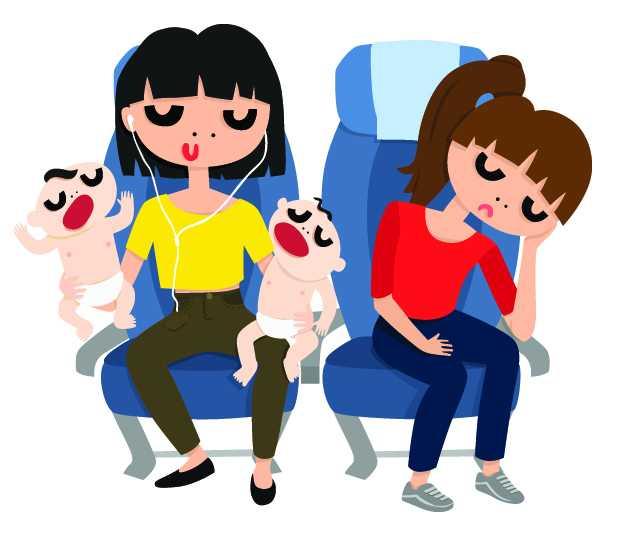 Létání s dětmi, cestování s dětmi letadlem