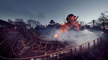 Nová dřevěná horská dráha