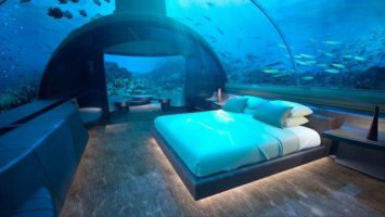 Podmořska vila Maledivy