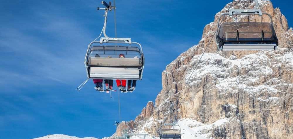 Lyžování v Itálii na Sella Ronda