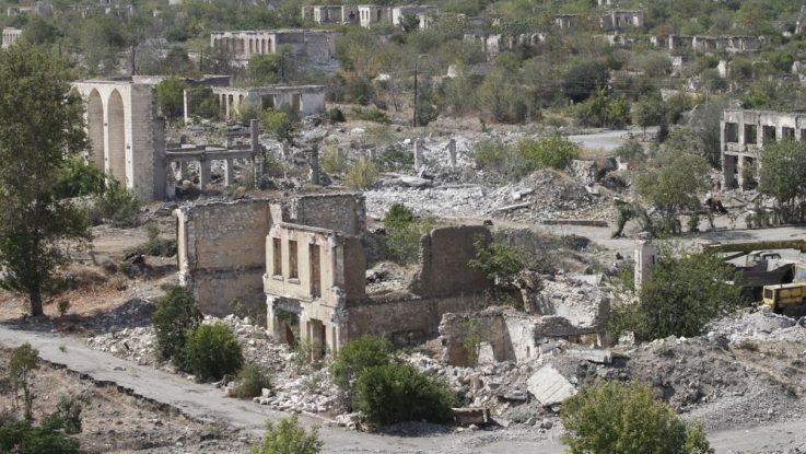 Město Agdam v Karabachu
