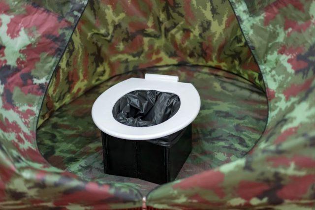 Záchod do stanu