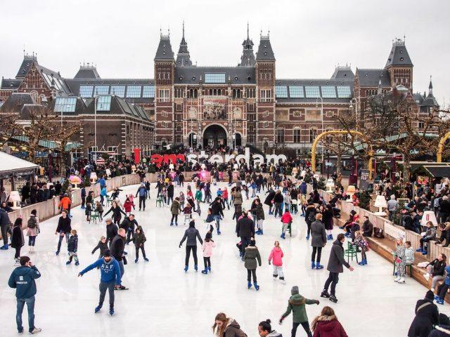Vánoční trhy v Amsterdamu