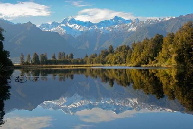 Lake Matheson Nový Zéland