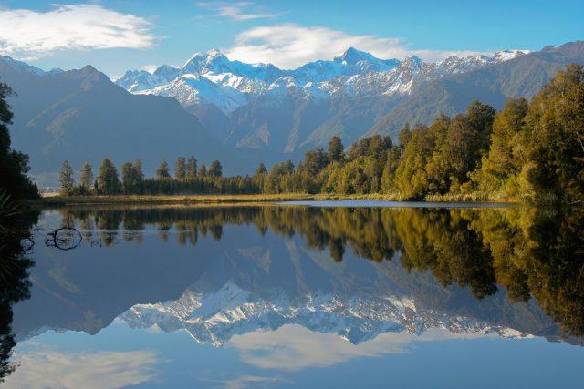 Lake Matheson Nový Zéland