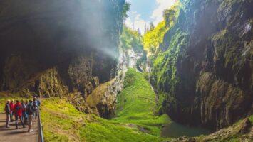 Propast Macocha v Moravském krasu